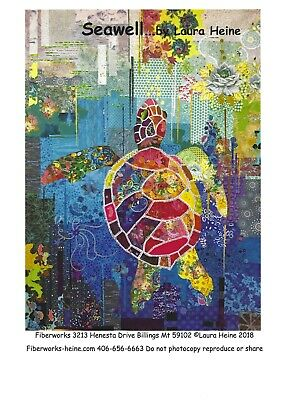 Laura Heine Quilt Pattern SEAWELL Turtle collage NEW in Package