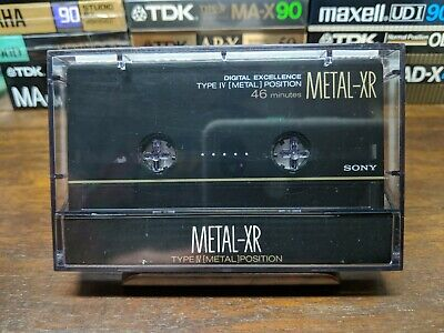 Sony Metal-XR 46 Metal compact cassette tape Type IV Sold as blank