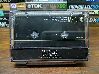 Sony Metal-XR 60 Metal compact cassette tape Type IV Sold as blank