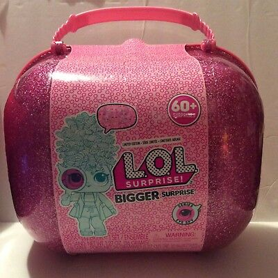 ONE 2018 LOL Limited Edition Bigger Surprise Doll 60+ Surprises Case storage