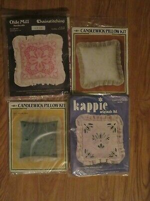Lot of 4 Pillow Kits Candlewick / Olde Mill / Kappie