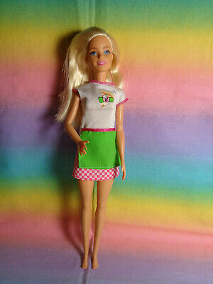 Barbie Pizza Chef Blonde Doll - dressed - no shoes