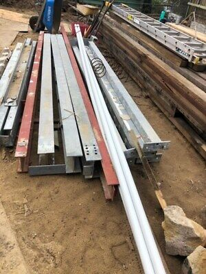 assorted steal beams. various sizes and lengths as per pics