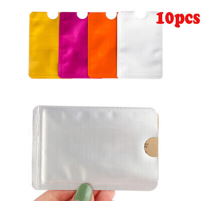 Cards Aluminium Foil RFID Blocking Protect Case Cover Sleeve Wallet Card Holder