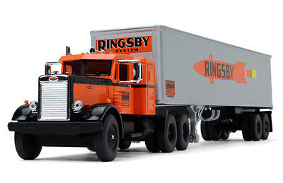 1/64 Vintage Ringsby Peterbilt And Trailer Diecast Made By First Gear Diecast
