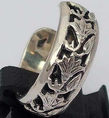 Ancient Egyptian Lotus Flower, Symbol of Beauty, Love, Grace, Hope,Silver Ring