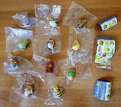 Winnie The Pooh Animal Wear Collection 2 & 5 Disney Tomy Completa Nuova 11 Pezzi