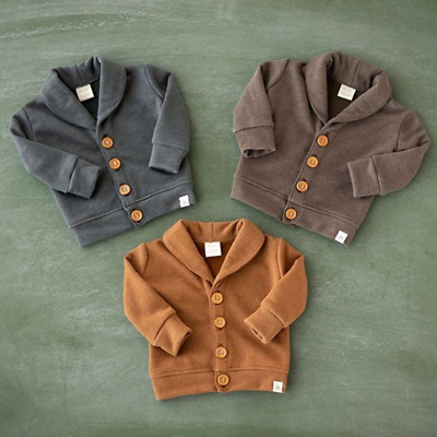 AU Toddler Baby Boys Clothes Long Sleeve Top Autumn Winter Coat Jacket Outwear
