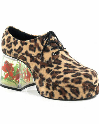Leopard Print With Fish Heel Mens Shoes Size L