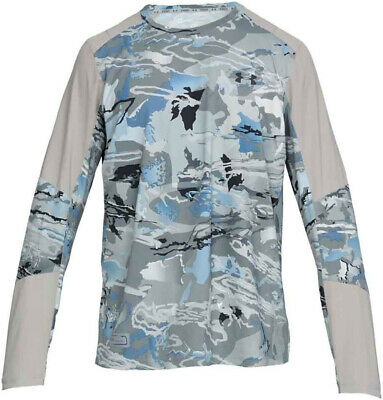 NWT Under Armour Men's CoolSwitch Hybrid Crew Fishing Long Sleeves Shirt Camo