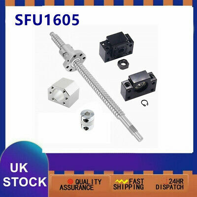 "SFU1605 Rolled BallScrew Kit Length 6""-79"" & Ballnut Housing & Coupler & BK/BF12"