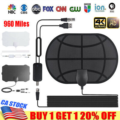 960Mile Range Antenna TV Digital HD HDTV 1080P Skywire 4K Antena Indoor Aerial V