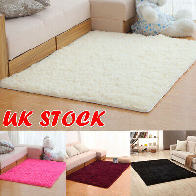 Fluffy Rugs Shaggy Area Rug Bed/Dining/Play Room Carpet Floor Mat Home Bedroom