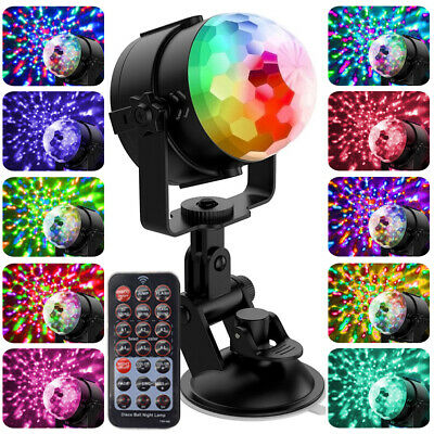 3 Mode Disco Party Lights Ball DJ Strobe Led Laser Indoor Outdoor Activated
