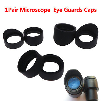 1Pair Telescope Microscope Eyepiece 33-36 Mm Eye Cups Rubber Eye Guards Caps *