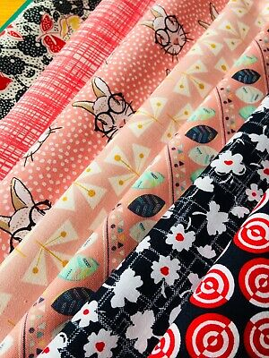 BN Gorgeous Fabric Remnant/ Collection, 100% Cotton, Quilting, Sewing, Bundle