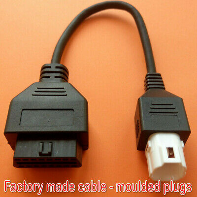 Yamaha 4-pin to OBD2 Diagnostic Cable OBD Fault Code Reader Adaptor
