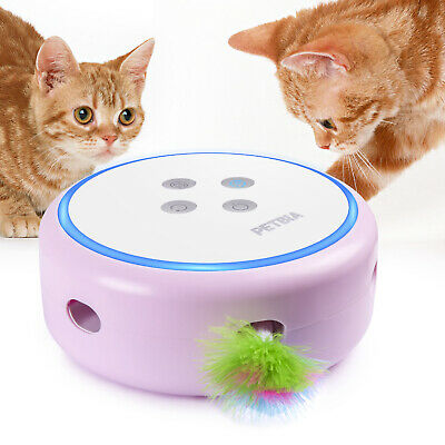 PETBIA Interactive Cat Toy Rechargeable Automatic Feather Toy for Cats Kittens