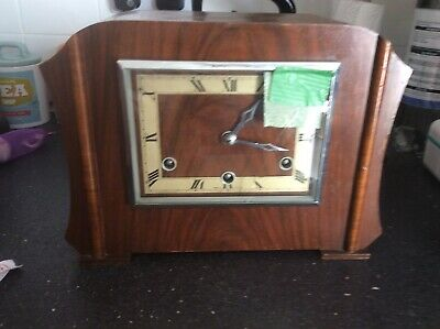 Westminster Chiming Mantle Clock For Spares Or Repair