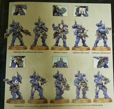 40k x10 INFILTRATOR SQUAD Vanguard Primaris Space Marines Phobos NEW
