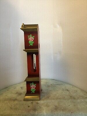 clocks.     Mini mini German made grandfather (toy) clock   Working order  + key