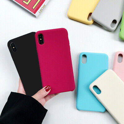 For Apple Silicone Case iPhone X XR XS MAX 8 7 & Plus Slim TPU Soft Rubber Cover
