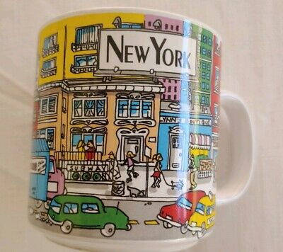New York City Coffee / Tea Mug Ceramic, Unique And Colorful