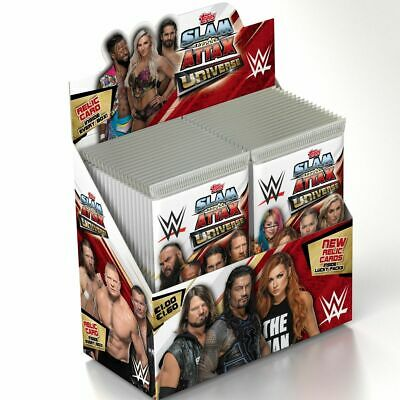 Wwe topps slam Attax Universe 36 packs  Slam Attax Universe