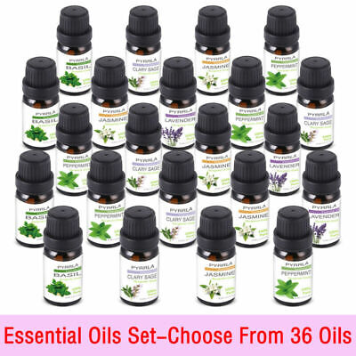 36X Pure Essential Oils Set 10Ml Aromatherapy Therapeutic Grade Oil For Diffuser
