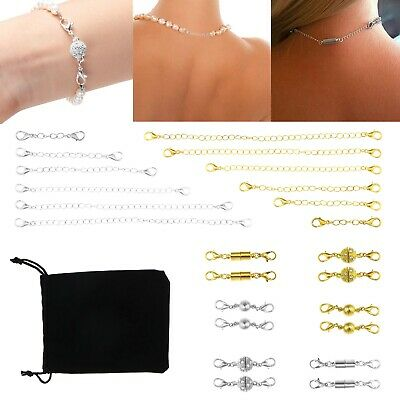 Jewelry Making Magnet Clasp Lobster Claw Clasp Chain Extender Set 24 Pieces