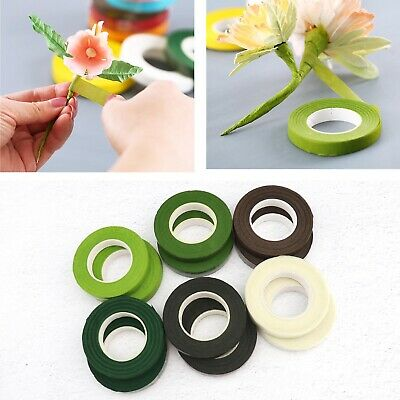 12 Rolls Floral Tape Stem Wrap Green Tape for Bouquet Flowers Stem Wrap