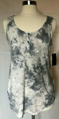 Calvin Klein Jeans CK Womens Size Med M Girls Grey Gray Tie Dye Tank top shirt