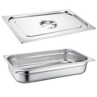 Gastronorm Pan Full Size Stainless Steel 1/1 Size Bain Marie Pot Choose Size