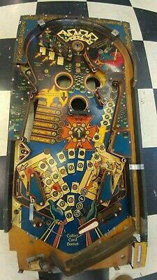 Bally Kings of Steel pinball playfield semi populated