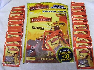 """""""THE LION GUARD"""" Sealed STARTER / PACK  & 50 Extra PACKETS OF STICKERS"""