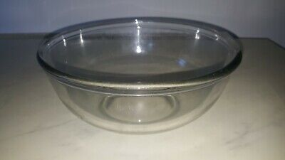 VINTAGE CLEAR 1960s PYREX MIXING BOWL  10 1/2 INCHES