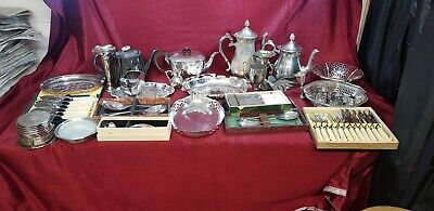 A Large Job Lot Of Antique/vintage Silver Plated Items.bery Collectable.