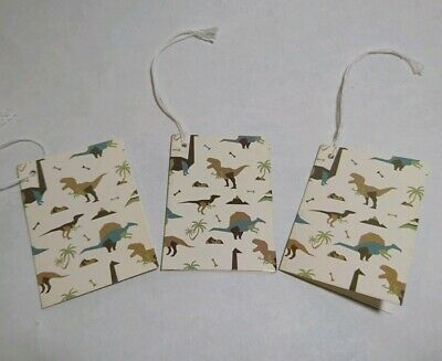Gift Tags X 3, Dinosaur Themed, Childrens, Present Tags / Labels