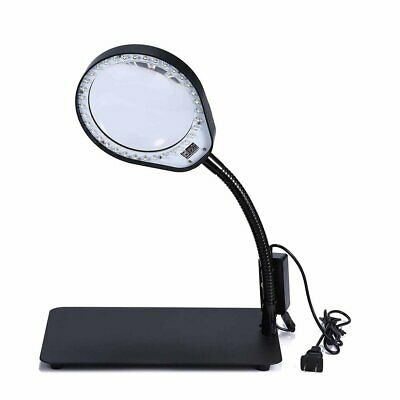 Laptop Flexible Magnifier LED Desk Lamp USB Cabled, Powerful Magnifying Glass 5X
