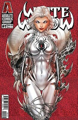 White Widow #1 2nd Print Red Foil TYNDALL Absolute Comics Group 2019