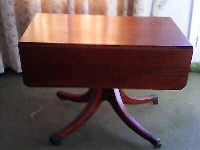 Antique Victorian early 1800s Mahogany Drop Leaf Table Antique Pembroke Drawer
