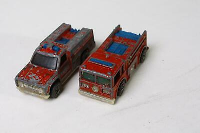 Original Redline Hot Wheels Fire Eater and First Aid Trucks 1974 1976