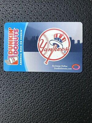 Dunkin ' Donuts Gift Card. Yankees NYY no cash value recharge on line