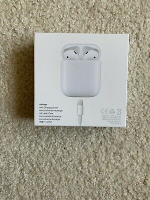 Apple AirPods 2nd Generation with Charging Case - White MV7N2AM/A New Unopened