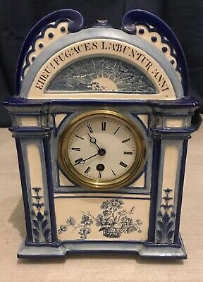 Antique Wedgwood 1884 Mantel Clock Very Rare