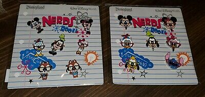 Disney Pins NERDS ROCK 2 Booster Sets Mickey Donald Goofy Minnie Chip Authentic