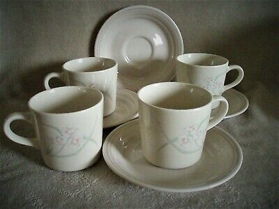 Eight CORNING/CORELLE SPRING POND Pattern Cups & Saucers FREE SHIPPING