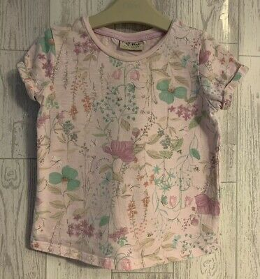 Girls Age 2-3 Years - Next Pink Floral Summer Top