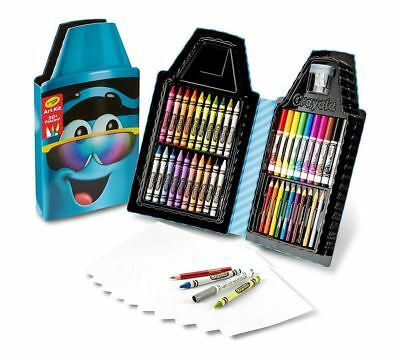Crayola Tip Art Kit Turquoise 50+ Pieces Crayons Pencils Markers BNIB