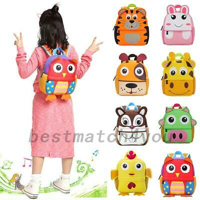 Kids Children's Toddlers Junior Character Backpack Rucksack Lunch School Bags Au